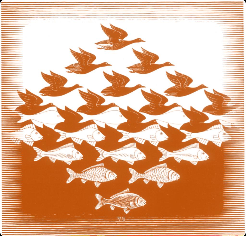 Sky and Water I (M.C.Escher)